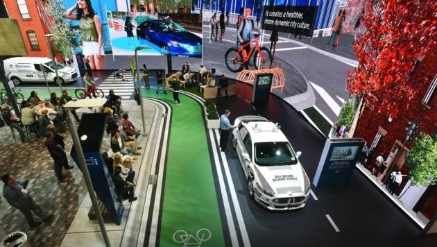 Ford auf der CES 2018: Die Straßen der Städte sollen in Zukunft wieder zu lebendigen Orten werden.