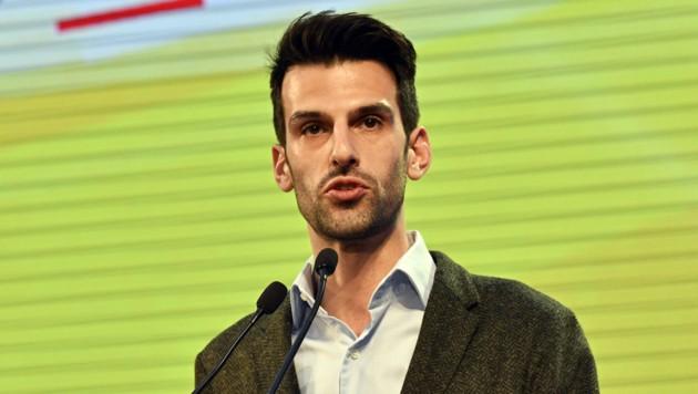 Udo Landbauer, Spitzenkandidat der FPÖ Niederösterreich (Bild: APA/HANS PUNZ)