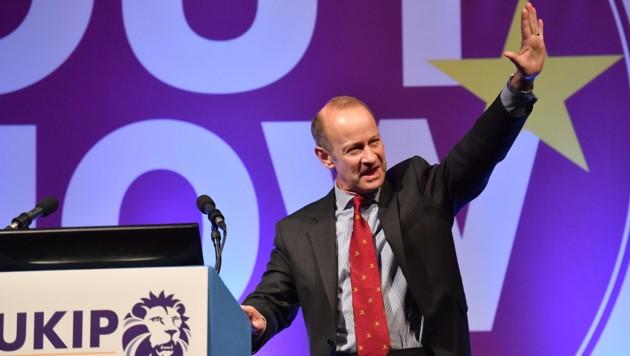 Der Chef der UK Independence Party, Henry Bolton (Bild: AFP)