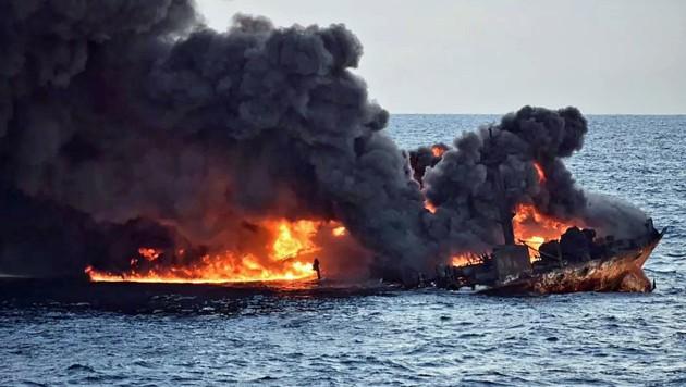 """Für die 32 Seeleute an Bord der """"Sanchi"""" gab es keine Rettung. (Bild: APA/AFP/Transport Ministry of China)"""