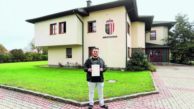 Schüler David Renn kämpft seit Herbst um den Erhalt der Berufsschule Braunau.