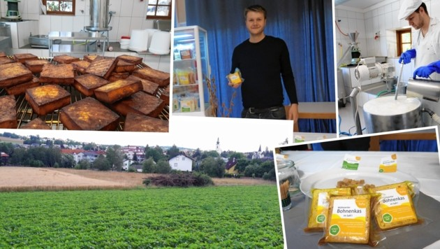 Seit fünf Jahren stellt Gregor Mittermayr (oben) seinen oberösterreichischen Tofu her.