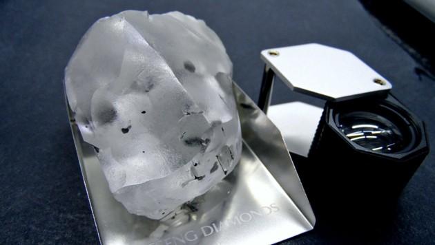 Der in Lesotho entdeckte, 910 Karat schwere Diamant
