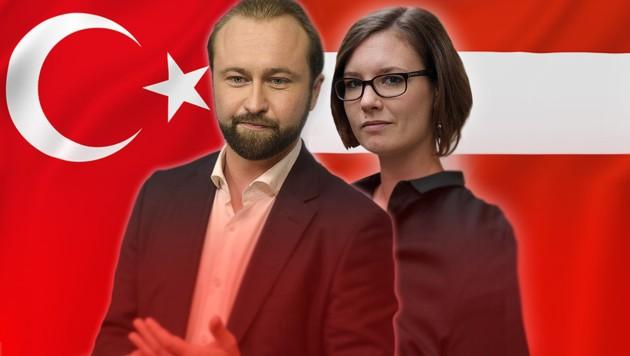 SPÖ-Bundesgeschäftsführer Max Lercher und Eva Maltschnig, Vorsitzende der Sektion Acht der SPÖ Alsergrund