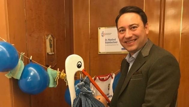 Empfang mit Storch im Büro von LH-Vize Manfred Haimbuchner (Bild von 2018) (Bild: FPÖ)