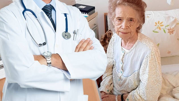 Elisabeth Bacher im Krankenhaus