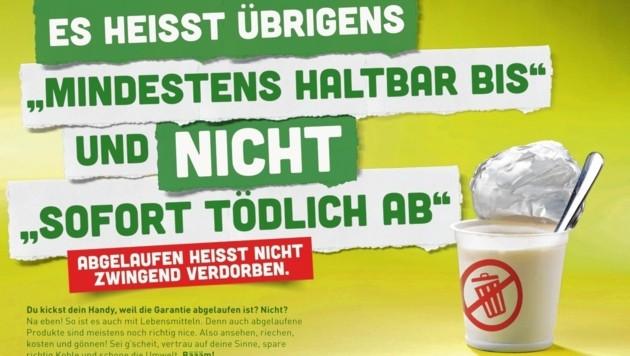 Der Landesabfallverband Oberösterreich startete diese Plakat-Aktion.