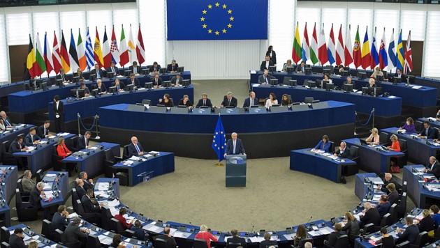 Das EU-Parlament in Straßburg (Bild: AFP)