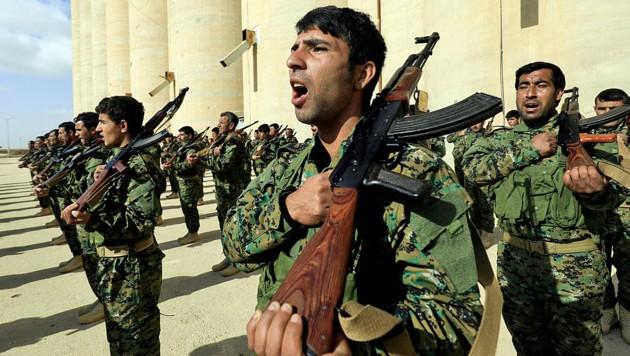 Kurdische Kämpfer in Nordsyrien (Bild: AFP)