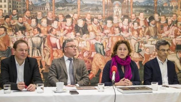 Carl Philip v. Maldeghem, Heinrich Schellhorn, Elisabeth Resmann und Reinhard Gratz.