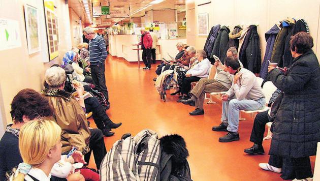 Lange Wartezeiten in den Spitalsambulanzen