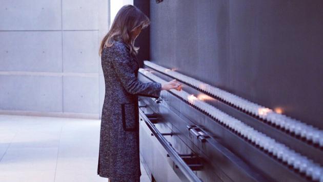 Melania Trump auf Solo-Besuch im Holocaust-Museum