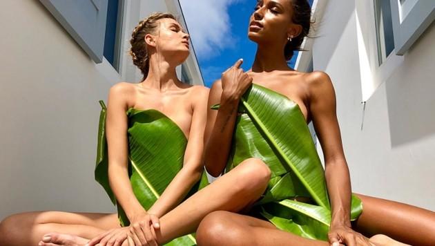 Josephine Skriver und Jasmine Tookes entblättern sich. (Bild: instagram.com/jastookes)