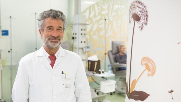 Prof. Michael Fridrik leitet das Tumor-Zentrum im Uniklinikum. (Bild: Zeljko Jakovljevic)