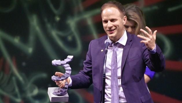 """Adrian Goiginger, (Die Beste aller Welten, Bester Spielfilm) im Rahmen der Vergabe """"Österreichischer Filmpreis 2018"""" (Bild: HANS PUNZ / APA / picturedesk.com)"""