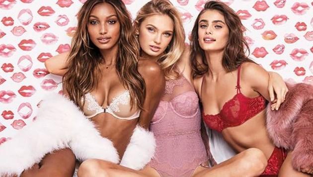 Auch bei Victoria's Secret setzt man auf die Farben der Liebe zum Valentinstag.