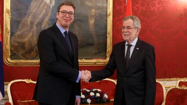 Aleksandar Vucic zu Gast bei Alexander Van der Bellen in der Hofburg