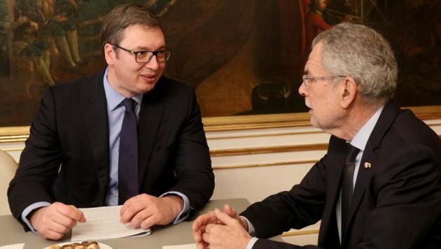 Aleksandar Vucic zu Gast bei Alexander Van der Bellen
