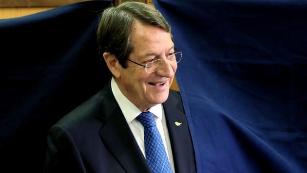 Zyperns alter und neuer Präsident Nicos Anastasiades (Bild: AP)