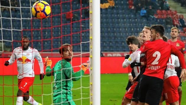 Andre Ramalho erzielt das 2:1 gegen die Admira (Bild: KRUGFOTO / APA / picturedesk.com)