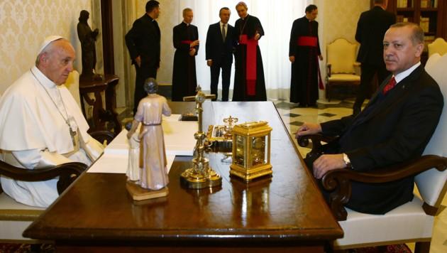 Recep Tayyip Erdogan zu Besuch beim Papst