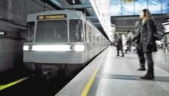 Die Fotomontage nimmt es vorweg: U3-Endstation Schwechat (Bild: Wiener Linien/Johannes Zinner)