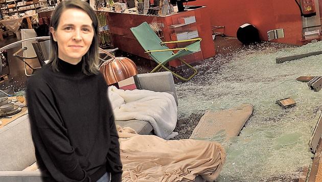 Die damals schwangere Aldina Z. wurde durch die Glassplitter schwer verletzt. (Bild: Tröster, Dostal )