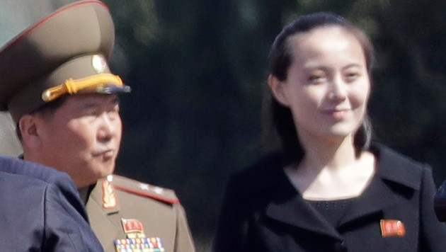 Kim Yo Jong befindet sich in der nordkoreanischen Machthierarchie ziemlich weit oben. (Bild: AP)