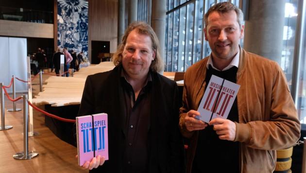 Künstlerisches Führungsduo am Linzer Landestheater: Intendant Hermann Schneider und Markus Poschner, Chefdirigent des Bruckner Orchesters (r.). (Bild: Horst Einöder)