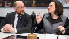 Martin Schulz und Andrea Nahles (Bild: AFP)