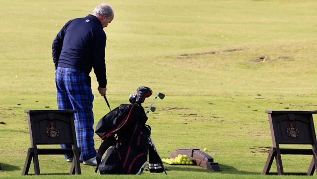 Die Driving Range des Trump International Golf Course in Balmedie