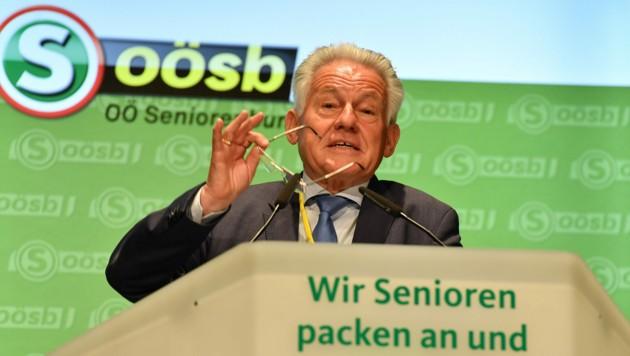 Am 13.06.2017 übernahm Josef Pühringer den Vorsitz im Oberösterreichischen Seniorenbund der ÖVP. (Bild: © Harald Dostal / 2017)