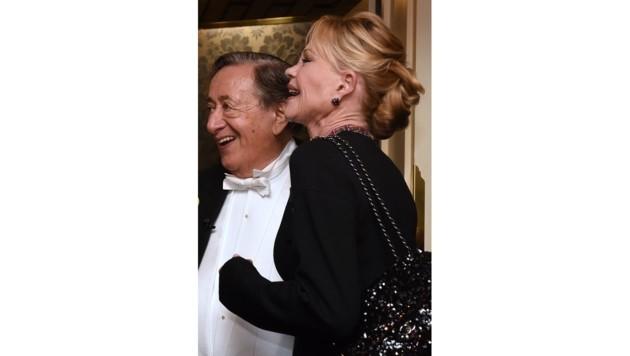 US-Schauspielerin Melanie Griffith und Richard Lugner (Bild: APA/HERBERT P. OCZERET)