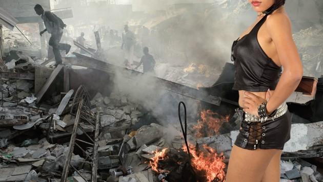 Mitarbeiter der Hilfsorganisation Oxfam haben sich während eines Einsatzes in Haiti Prostituierte bezahlen lassen. (Bild: AFP, stock.adobe.com, krone.at-Grafik)