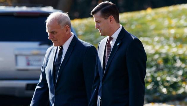 Stabchef John Kelly und Rob Porter
