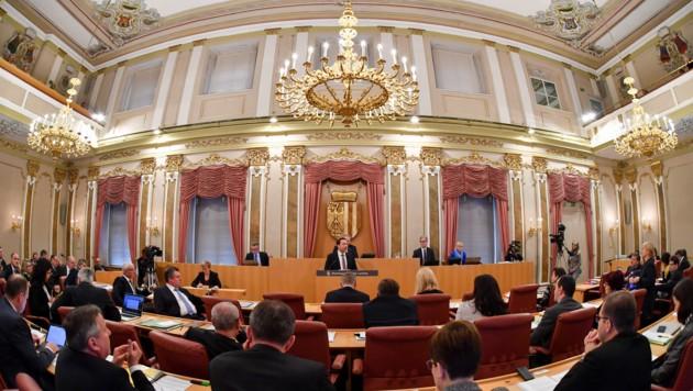 Oberösterreichs Landtag bei einer Plenarsitzung im Linzer Landhaus. (Bild: © Harald Dostal / 2017)
