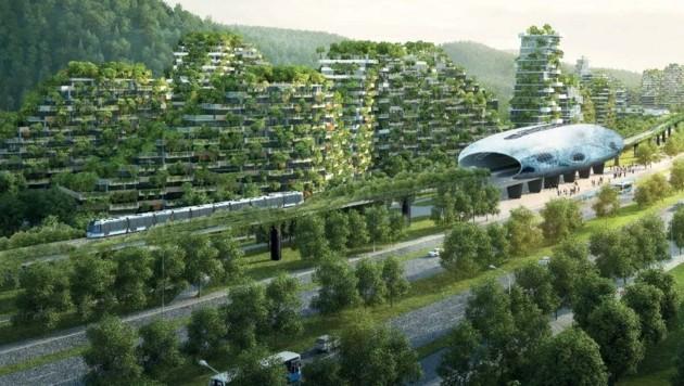 """In China entsteht die weltweit erste """"Waldstadt"""""""