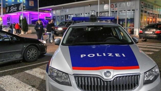 Schon wieder: Polizeieinsatz bei der Lokalmeile neben dem Outletcenter in Wals-Himmelreich. (Bild: MARKUS TSCHEPP)