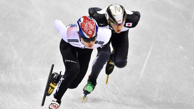 Kei Saito (links im Bild) (Bild: AFP)