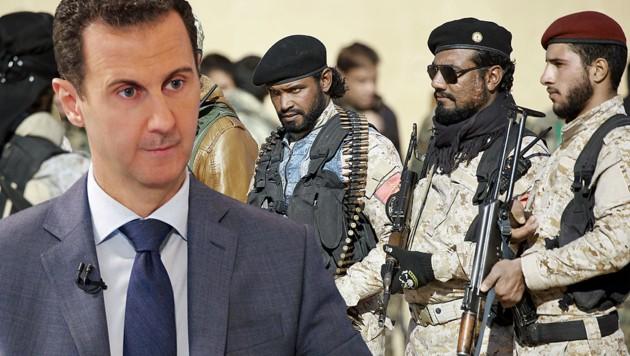 Obwohl auch Syriens Präsident Bashar al-Assad die Autonomiebestrebungen der Kurden ein Dorn im Auge sind, unterstützt er sie im Kampf gegen die Türkei. (Bild: AFP or licensors)