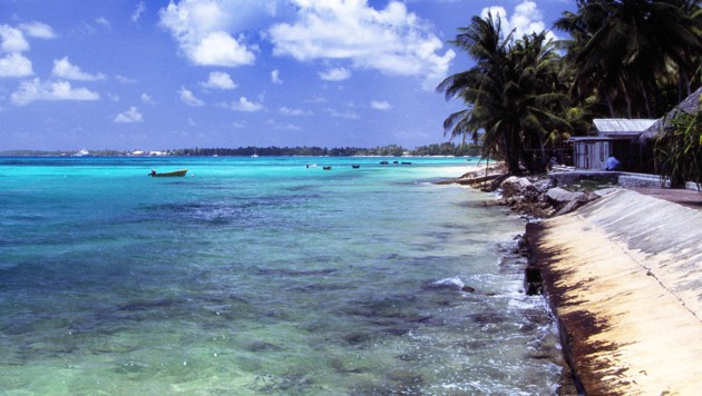 Der Pazifik bei Funafuti, der Hauptstadt des Inselstaats Tuvalu