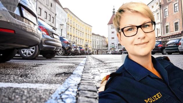 Polizistin Evelyn Wolf kümmert sich in Wels um viele kleine Nöte (Bild: Markus Wenzel)