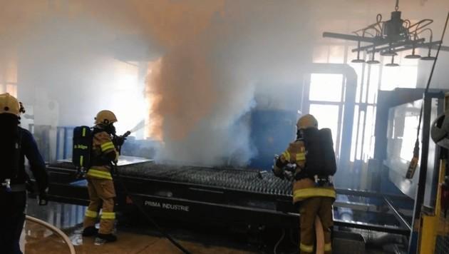 Der Brand in der Absauganlage war rasch gelöscht.
