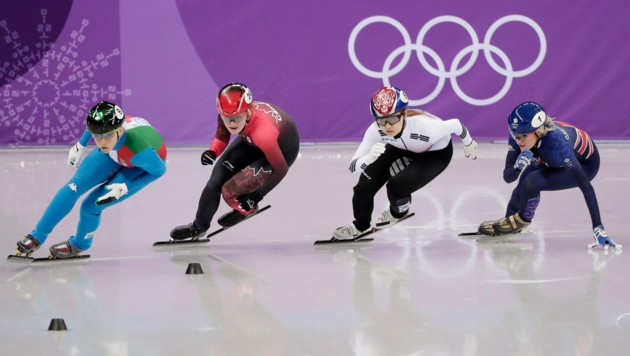 So schaut Short-Track aus ... (Bild: Associated Press)