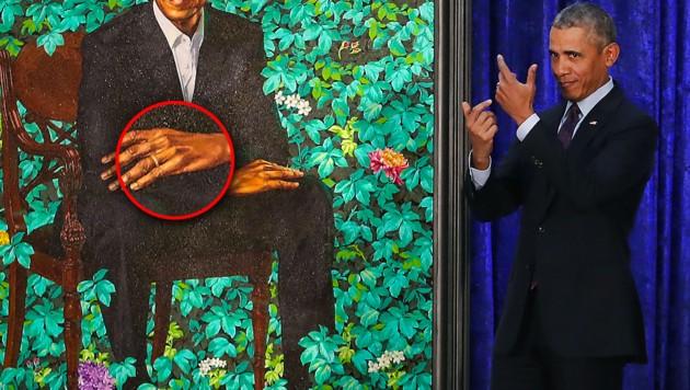 Auf offiziellem Porträt: Obama mit sechs Fingern
