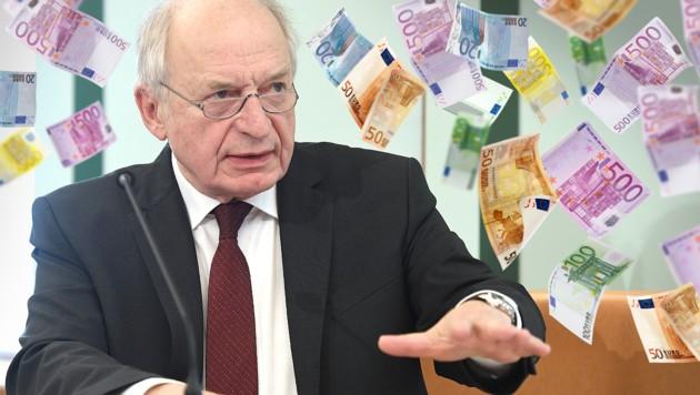 Fiskalrat-Chef Bernhard Felderer. (Bild: APA/Helmut Fohringer, stock.adobe.com, krone.at-Grafik, )