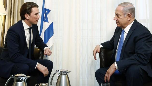 Sebastian Kurz und Benjamin Netanyahu (Bild: Bundeskanzleramt/Dragan Tatic)