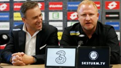 Christian Jauk (links) mit Sturm-Cheftrainer Heiko Vogel (Bild: GEPA)