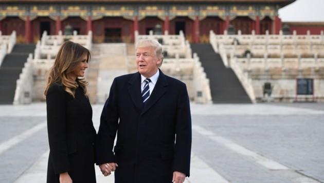 Melania und Donald Trump in der Verbotenen Stadt in Peking