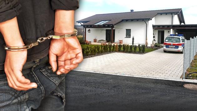 In diesem Haus in Polling im Innkreis soll der Deutsche seine Mutter getötet haben.